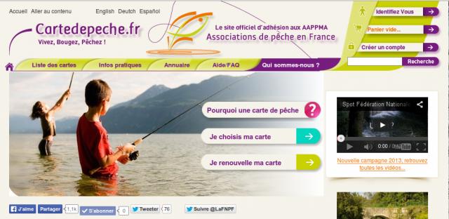 Carte de pêche 2014 : c'est l'heure !